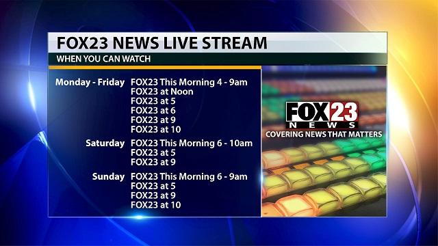 FOX23 Live Streams | FOX23